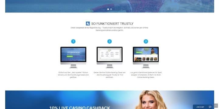 Schnewellwetten Trustly Online Casino