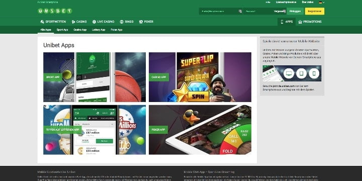 Apps Unibet Casino