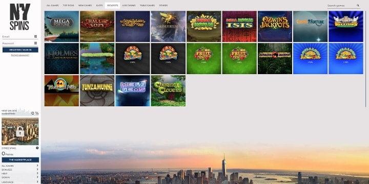 Jackpots NYSpins Casino