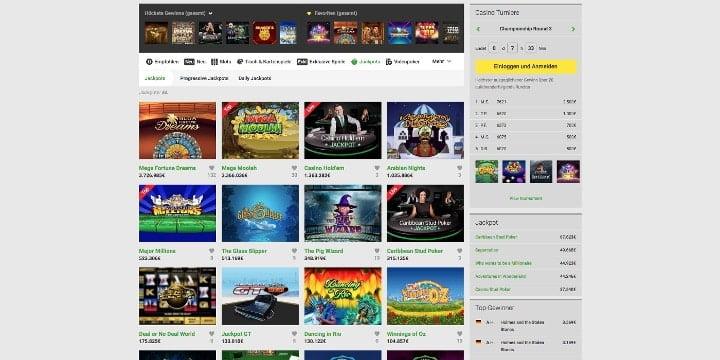 Jackpots Unibet Casino