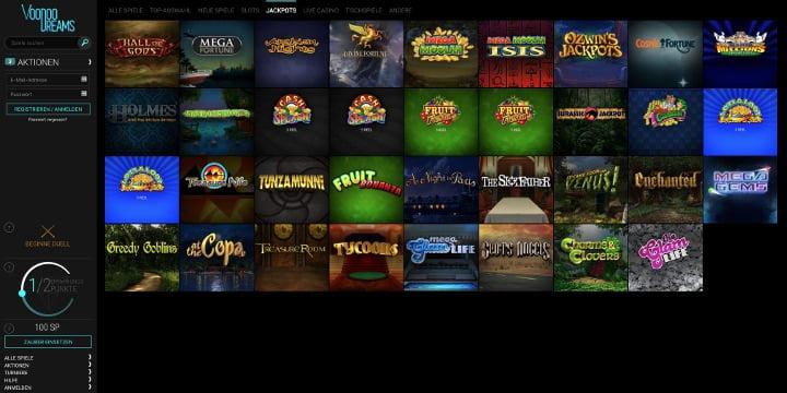 Jackpots VoodooDreams Casino