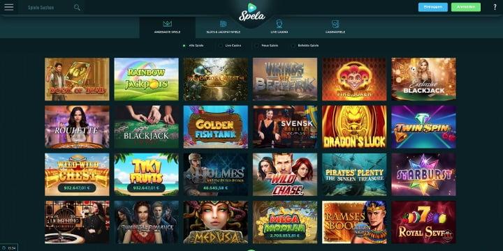 Spela Casino alle Spiele