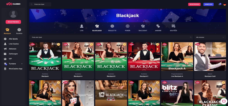 Woo Casino Blackjack