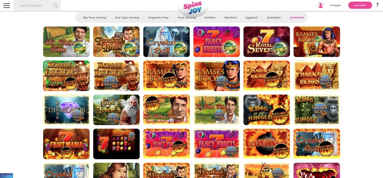 Spins Joy Casino Gamomat