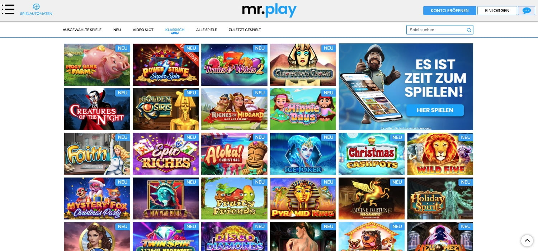 Mr. Play Casino Spiele