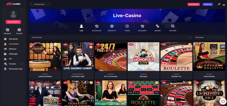 Woo Casino Live Casino