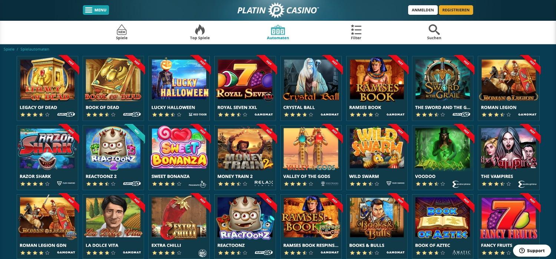 Platin Casino Slots
