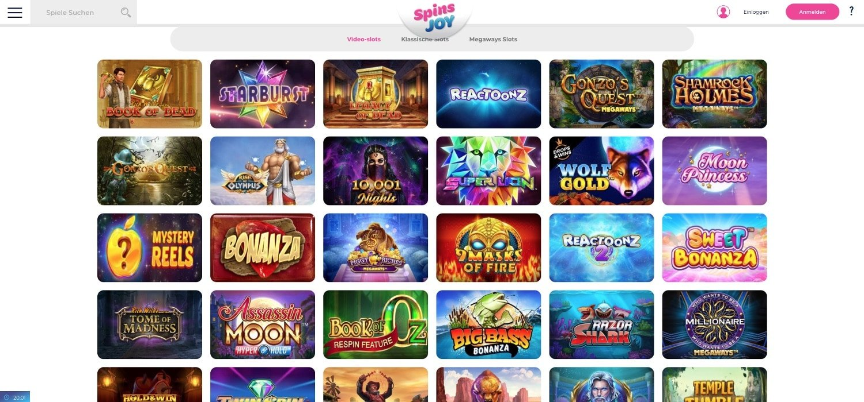 Spins Joy Casino Slots