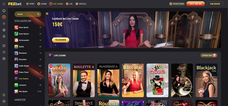 FezBet Casino Live