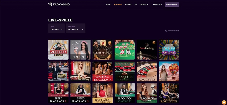 Duxcasino Live Casino