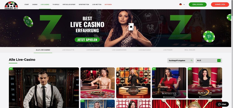 Zodiac Bet Live Casino