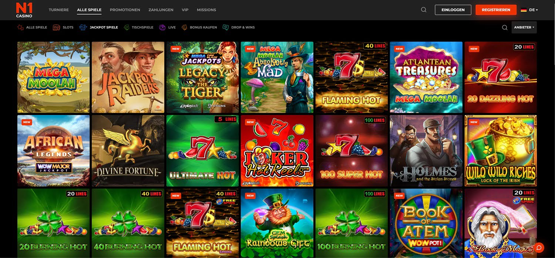 N1 Casino Jackpots