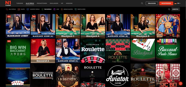 N1 Casino Tischspiele