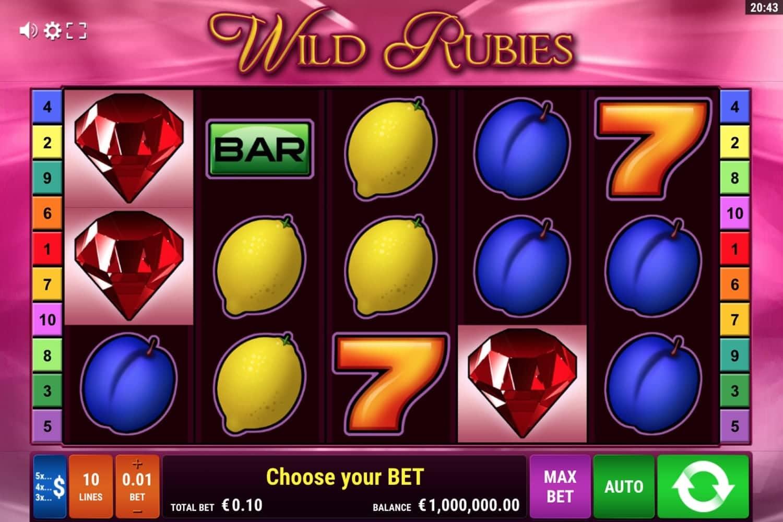 Wild Rubies Slot Gamomat