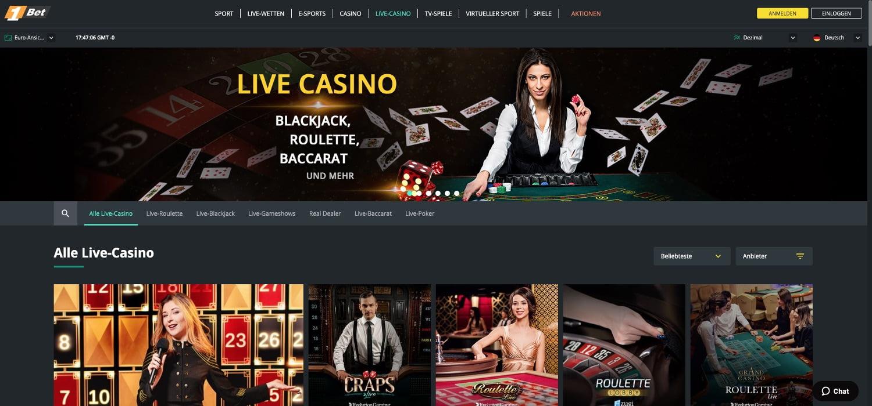 1bet Casino Live