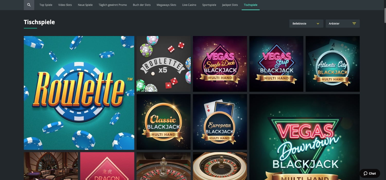 1bet Casino Tischspiele