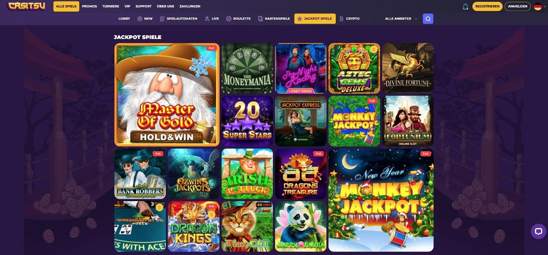 Casitsu Casino Jackpots