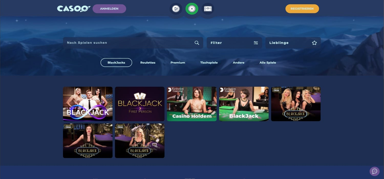 Casoo Casino Blackjack
