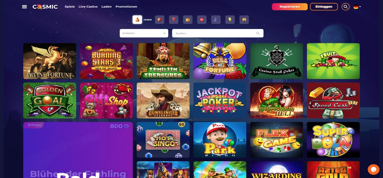 CosmicSlot Casino Jackpots