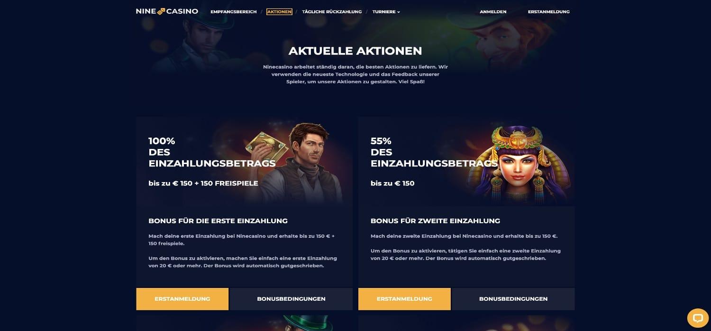 Nine Casino Bonus Aktionen