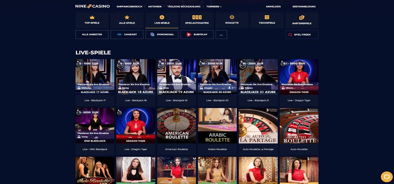 Nine Casino Live