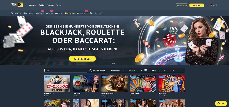 Yonibet Casino Live