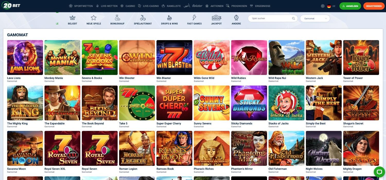 20Bet Casino Gamomat