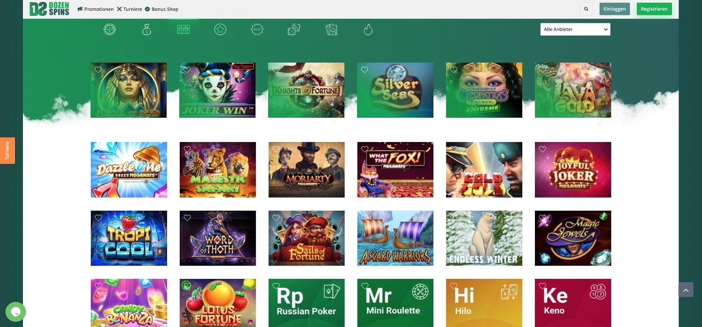 DozenSpins Casino Slots