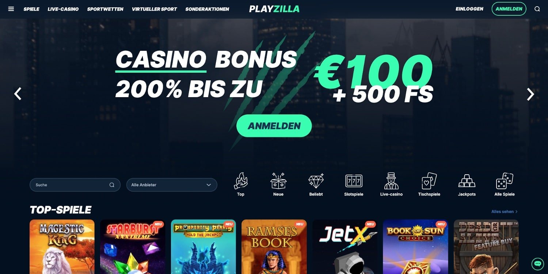 Playzilla Casino Bonus