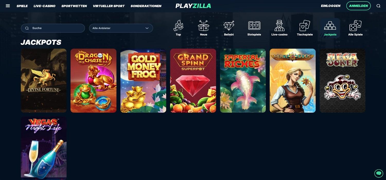 Playzilla Casino Jackpots