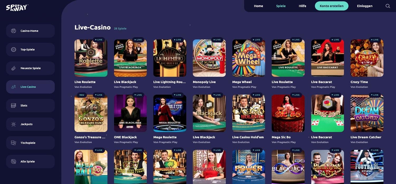 Spinaway Live-Casino